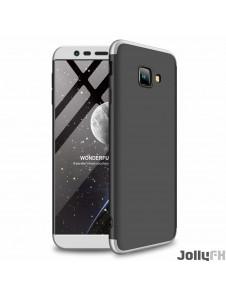 Svart-silver och väldigt snyggt skydd till Samsung Galaxy J4 Plus 2018 J415.