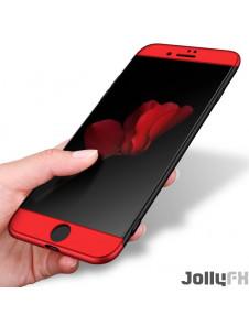 Svart-rött och väldigt snyggt skydd till iPhone 8 Plus.