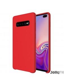 Rött och väldigt snyggt skydd Samsung Galaxy S10 Plus.