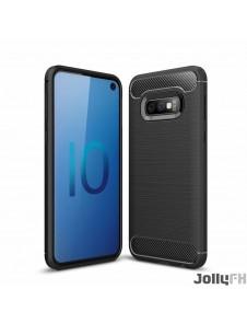 Svart och väldigt snyggt skydd Samsung Galaxy S10e.