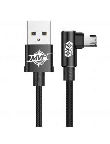 Hållbar USB-kabel med mikro-USB-kontakt i armbågen.