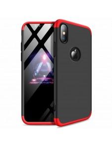 Svart-rött och väldigt snyggt skydd till iPhone XR.